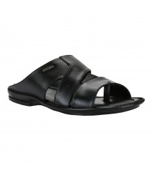 Cefiro Black Slipper for Men - CSP0021
